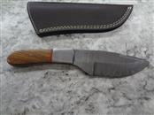 """CFK DAMASCUS STEEL MAHOGANY HANDLE - WITH SHEATH - 4"""" BLADE - MUST BE 18"""